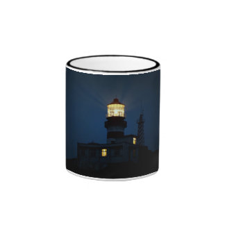 Sky Themed, An Illuminated Light Tower Located Beh Ringer Coffee Mug