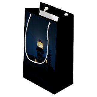 Sky Themed, An Illuminated Light Tower Located Beh Small Gift Bag