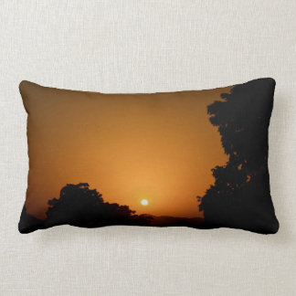 Sky Themed, Sky Is Copper And Gold As The Sun Sets Pillow