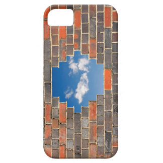 Sky through a hole in a brick wall iPhone SE/5/5s case