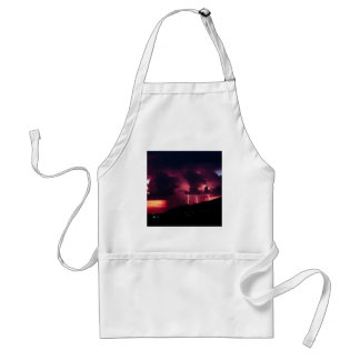 Sky Thunderstorm Mountains Adult Apron
