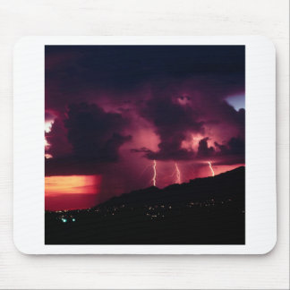 Sky Thunderstorm Mountains Mouse Pad