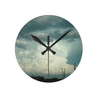 Sky Time Round Clock