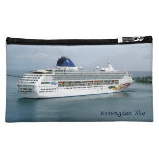 Sky Turning in Nassau Bahamas Custom Cosmetic Bag