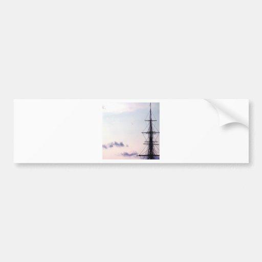 Sky Uss Constitution Mast Bumper Sticker