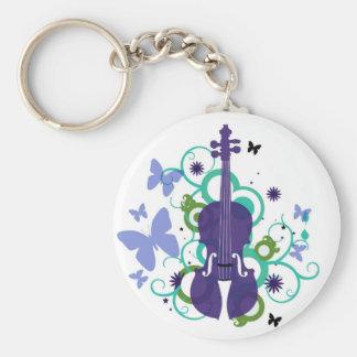 Sky Violin Design Keychain
