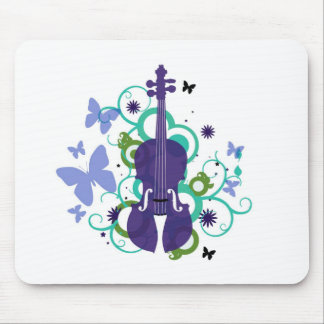 Sky Violin Design Mouse Pad