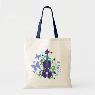 Sky Violin Tote Bag
