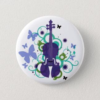 Sky Violins Pinback Button
