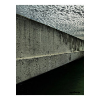 sky,water,and concrete poster