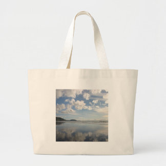 Sky Water Reflects Canvas Bag