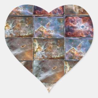 SKY Wave Tile Work Graphics Heart Sticker