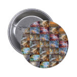 SKY Wave Tile Work Graphics Pinback Buttons
