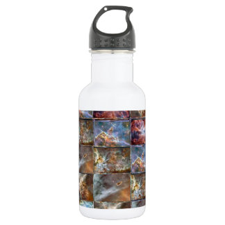 SKY Wave Tile Work Graphics Water Bottle