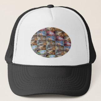 SKY Wave Tile Work Oval Graphics Trucker Hat