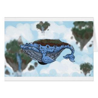 sky whale card