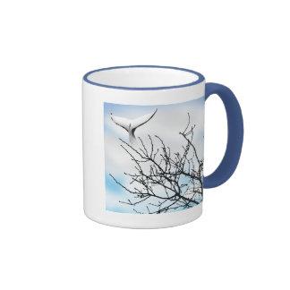 SKY WHALE RINGER COFFEE MUG
