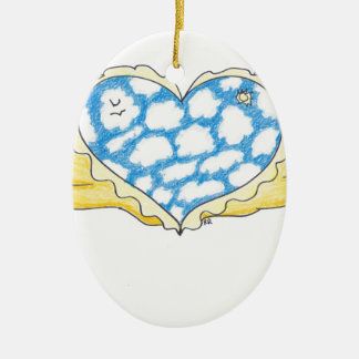 SKY WINGED HEART by Ruth I. Rubin Christmas Ornament