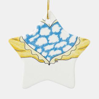 SKY WINGED HEART by Ruth I. Rubin Christmas Tree Ornament