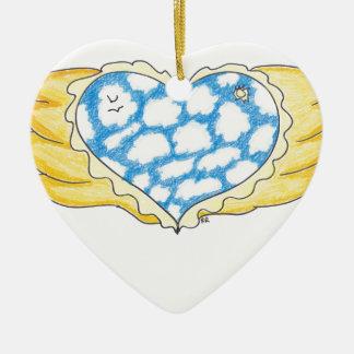 SKY WINGED HEART by Ruth I. Rubin Christmas Ornaments