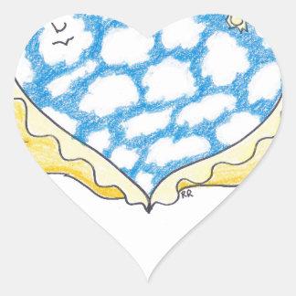 SKY WINGED HEART by Ruth I. Rubin Sticker