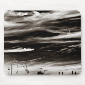 Sky Wisps over industrial London Mouse Pad