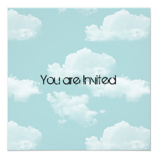 Sky with Clouds Baby Shower Invites