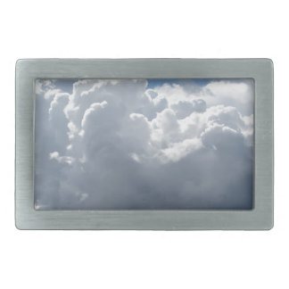 Sky with clouds belt buckle