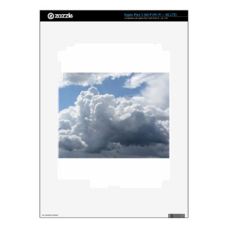 Sky with clouds decal for iPad 3