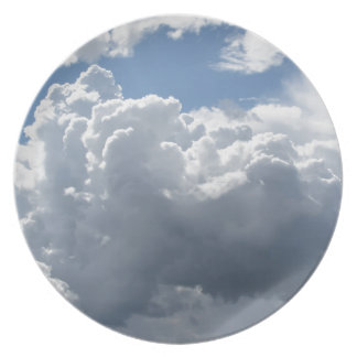 Sky with clouds dinner plate
