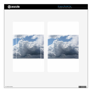 Sky with clouds kindle fire decals