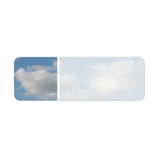 Sky with Clouds. Label