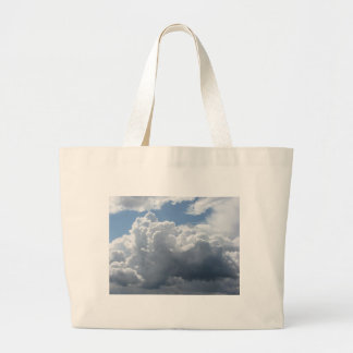 Sky with clouds large tote bag