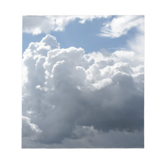 Sky with clouds notepad