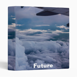 """Sky with future Cover Design 1"""" 3 Ring Binder"""