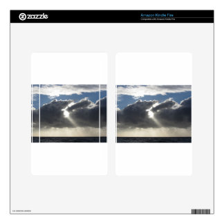 Sky with giants cumulonimbus clouds and sun rays kindle fire skin