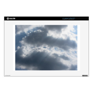 """Sky with giants cumulonimbus clouds and sun rays t 15"""" laptop skins"""