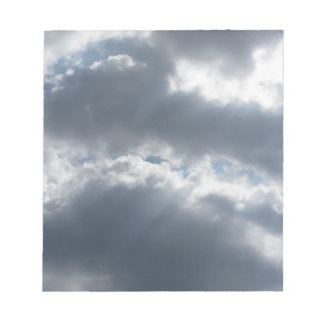 Sky with giants cumulonimbus clouds and sun rays t notepad