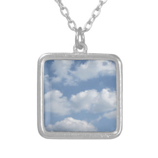 Sky with giants cumulonimbus clouds and sun rays t silver plated necklace