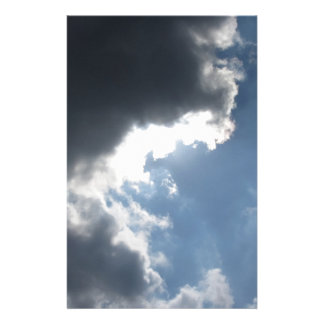 Sky with giants cumulonimbus clouds and sun rays t stationery