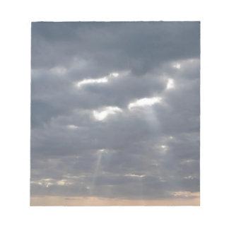 Sky with giants cumulonimbus clouds notepad