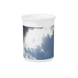 Sky with giants cumulonimbus clouds pitcher