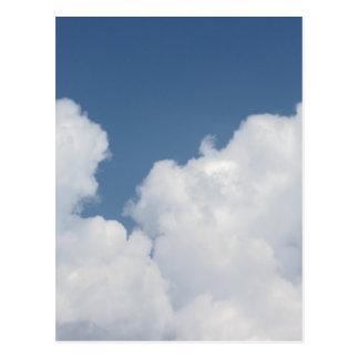 Sky with giants cumulonimbus clouds postcard
