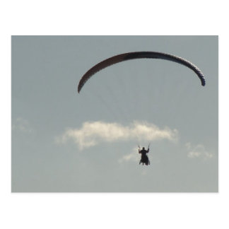 Sky with Paraglider, freedom, Paragliding Postcard