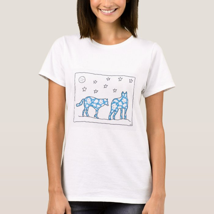 SKY WOLF TWO LANDSCAPE by Ruth I. Rubin T-Shirt