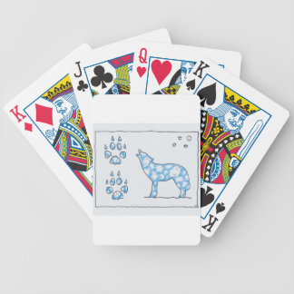 SKY WOLF TWO PAWS, by Ruth I. Rubin Bicycle Poker Deck