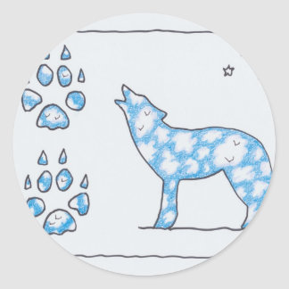 SKY WOLF TWO PAWS, by Ruth I. Rubin Stickers