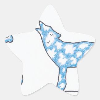 SKY WOLF TWO PAWS, by Ruth I. Rubin Star Sticker