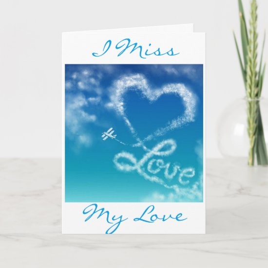 SKY WRITING FOR MY LOVE AT CHRISTMAS (MISS YOU) HOLIDAY CARD