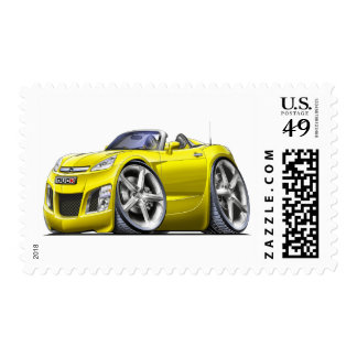 Sky Yellow Car Stamps